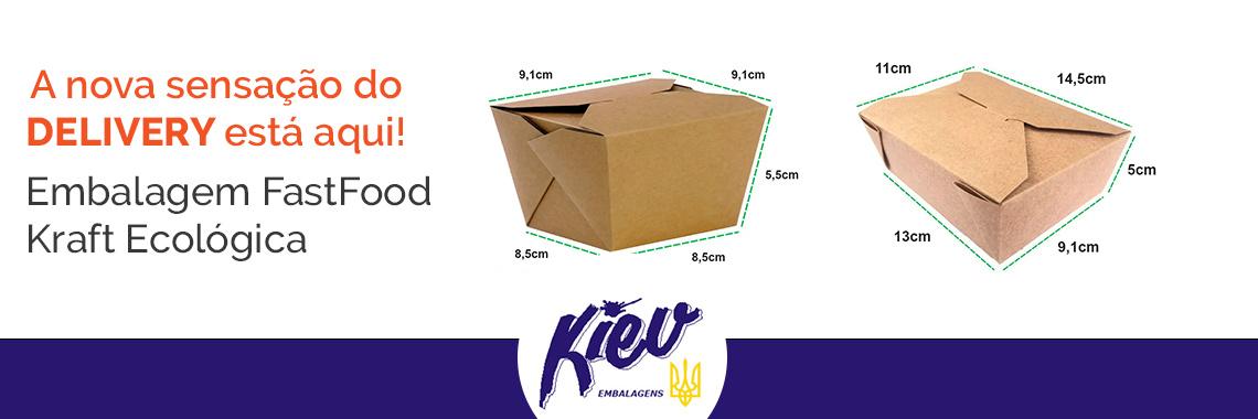 Embalagem Kraft Ecologico Fastfood