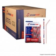 Canudo Flex 8MM Sachê 325 - Caixa 20x100
