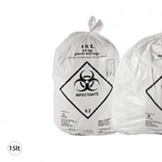 Saco Plástico Branco Infectante 15L 39X58 CX C/ 40X100